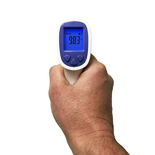 Infrared Touchless Digital Thermometer - Measure Temperature Quickly and Accurately with No Contact – One Button Operation LCD Digital Thermometer High Temp Fever Warning Sound – Fahrenheit or Celsius