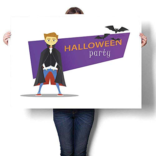 Anyangeight Abstract Painting Halloween Monster Party Banner Dracula