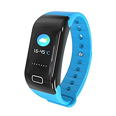 GOPG Smart Wristband Touch Screen IP67 Waterproof Fashion Business Silicone Blood Pressure Heart Rate Monitor for Men Women and Kids Sleep Monitor Estimated Price £25.06 -