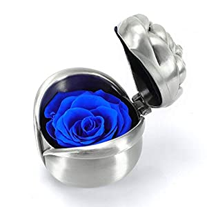 Rose Preserved Flower Gift, Blue Rose Gifts for Mom Mum, Handmade Preserved Rose Present, Exquisite Fresh Roses Upscale Immortal Flowers Best Gift for Female Birthday, Anniversary, Valentine's Day 4