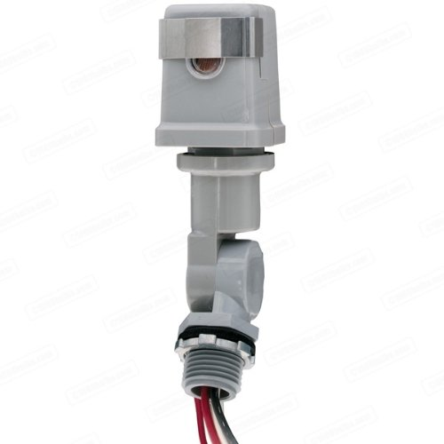 - Intermatic K4223C - Photo Control - Thermal Type Photocell - Stem and Swivel Mounting - Dusk-To-Dawn - 208-277 Volt