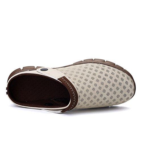 Marche Respirant Sandales De Hommes Les Aqua Unisexe Nasonberg Pantoufles Femmes Antidérapantes Les Khaki Maille Hommes Sandales Plage ww8qEO