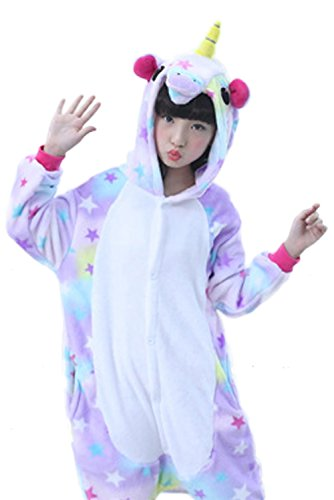 Amazon.com: Obtai Onesie Rainbow Unicorn Kigurumi Cosplay Costume Animal Pajamas Nightwear Halloween Jumpsuits for Adult and Kids: Clothing