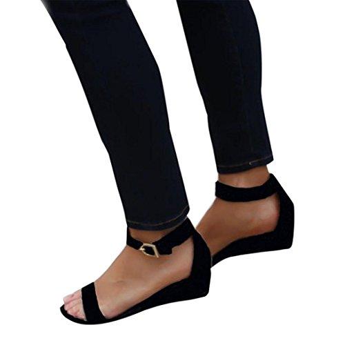 de Tira de Tobillo Jamicy Negro Mujer Charol Sandals 5wFIqqE