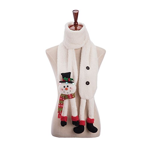 GALLERIE II LED Snowman Christmas Xmas Scarf One Size Fits Most - Galleria Bath