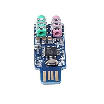 Unidad Libre Tarjeta De Sonido USB Computadora Tarjeta De ...