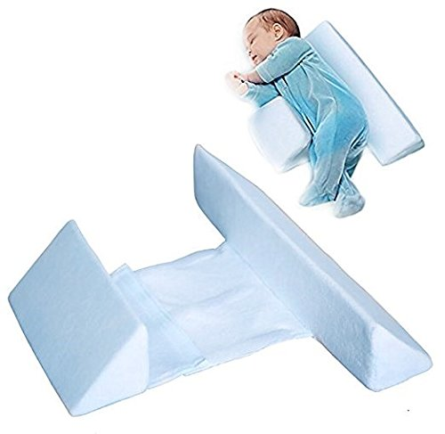 Baby Sleep Pillow Wedge Almohada Sleep Sleep Pillow Almohada Flat Recién Nacido Velvet Case 0-12 Months (45 Degrees, Merge)...