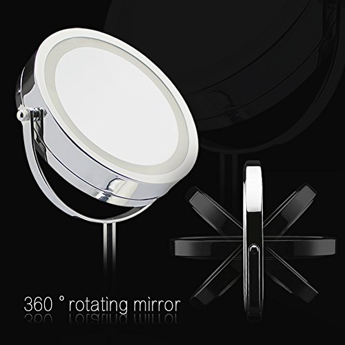 Anart 174 Led Lighted Vanity Mirror 7 Inch Double Sided