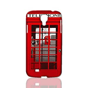 Classic British Red Telephone Box Image Protective Hard Custom Plastic 3d Case Cover for Samsung Galaxy S4 i9500, Nanli 3d Case