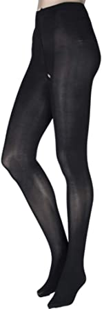Miss Naughty 100 Denier Blackout Crotchless Opaque Tights Open Gusset Pantyhose