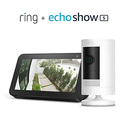 Ring Stick Up Cam Battery with Echo Show 5 (Charcoal)