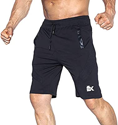17a71b1330 BROKIG Men's Gym Shorts, Fitted Active Sport Running Mesh Shorts ...