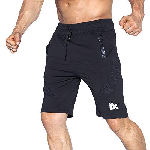 BROKIG Men's Gym Shorts, Athletic Workout Running Mesh Shorts with Pockets (M, ()