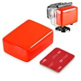 Insten Floaty Floating Floatation Sponge Gasket Mount with 3M Adhesive Sticker Tape Pad Compatible with GoPro Hero 1/ 2/ 3/ 3+/4 Water Sports Camera, Red
