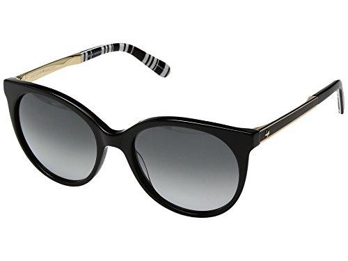 Kate Spade New York Women's Amaya/S Black Pattern/Black/Dark Gray Gradient Lens - Sunglasses For Oval Face Women
