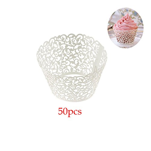 Filigree Cupcake Wrappers Wedding Decoartion