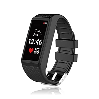 Inchor Smart Bracelet IP67 Waterproof Color OLED Touchscreen Display Fitness Tracker Bluetooth 4.0 Black