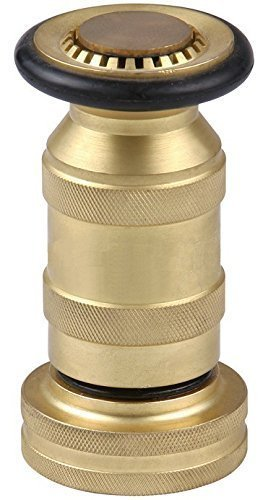 Fire Hose Nozzle 100 psi 1-1/2'' NST/NH 85 gpm Brass Fire Equipment Heavy Duty Industrial Jet Fog Spray Nozzle FHSN06B by Happy Tree