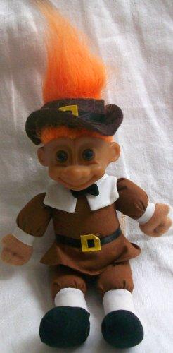 """Russ Berrie Good Luck Troll 7"""" Troll Pilgrim Bean Bag Doll Toy from Russ"""