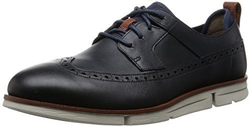 Clarks Trigen Limit, Scarpe Stringate Uomo Blu (Navy Leather)