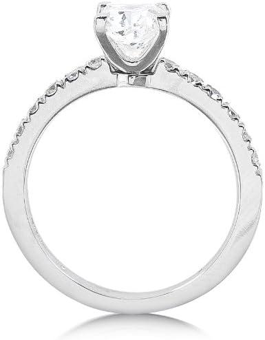 Kobelli Diamond Engagement Ring 3/4 Carat (ctw) in 14K White Gold