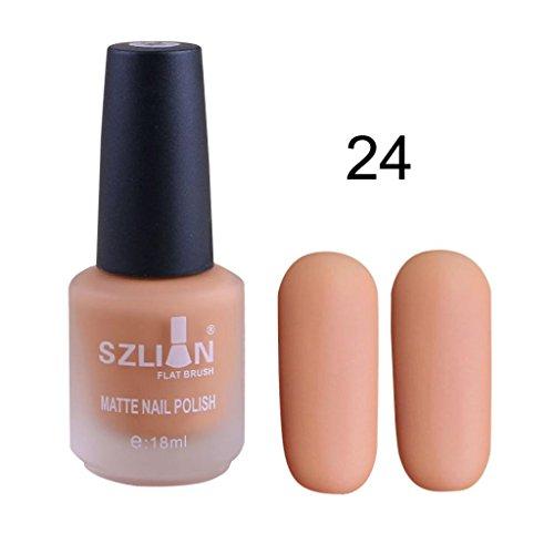 Fullfun SIZILIAN Flat Brush Matte Dull Nail Polish Gel, Fast Dry Long Lasting (2L) ()