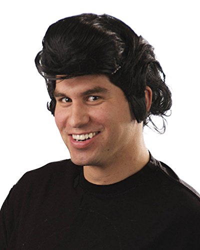 My Costume Wigs Men's Ace Ventura Pet Detective Costume Wig (Black) One Size fits all - Ace Ventura Pet Detective Costume