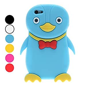 GJY3D Style Cartoon Penguin Pattern Soft Case for iPhone 5/5S (Assorted Colors) , Yellow