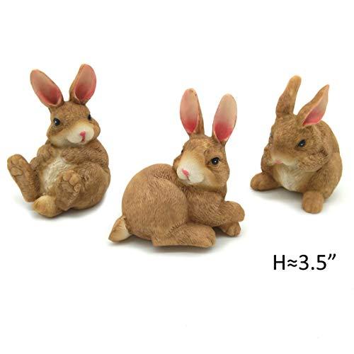 (Polyresin Outdoor Decor Bunny Garden Rabbit Statue Lawn Ornaments)