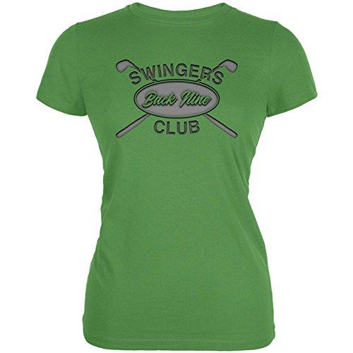 Back Nine Swingers Club Juniors Soft T Shirt Leaf X-LG