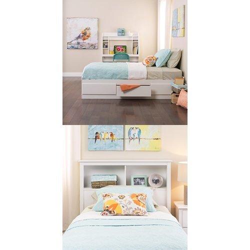 Prepac  Monterey Twin Bed and Headboard - White