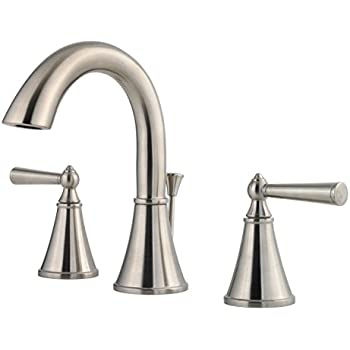 Pfister lg49gl0k saxton 2 handle 8 inch widespread - 8 inch brushed nickel bathroom faucet ...