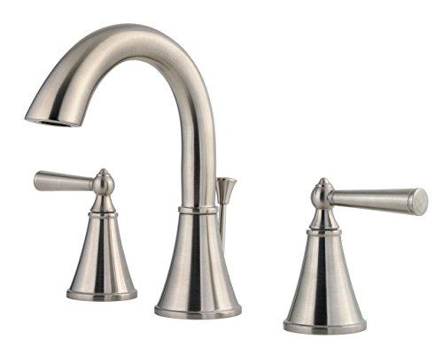 Pfister LG49GL0K Saxton 2-Handle 8 Inch Widespread Bathroom Faucet in Brushed Nickel, Water-Efficient Model