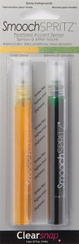 - Smooch Spritz Gold Glow and Emerald Sprinkle Accent Spray, 2-Pack