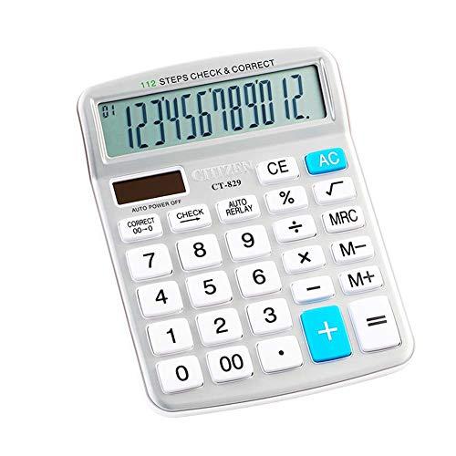Calculadora profesional estándar grande para computadora, calculadora electrónica de oficina con visualización grande de...