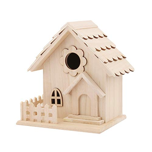 DealinM  Bird Box,Creative Personality Nest DOX Nest House Bird House Bird House Bird Box Bird Home Wooden Box Brown