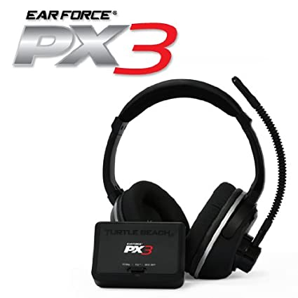 34ea9c43dcd Amazon.com: Turtle Beach - Ear Force PX3 - Programmable Wireless Gaming  Headset - PS3, Xbox 360: Playstation 3: Video Games