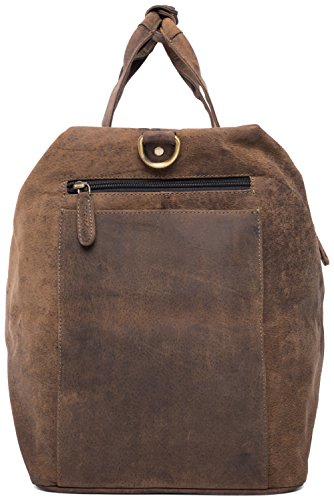LEABAGS Sydney borsone da viaggio vintage in vera pelle di bufalo - SugarCane SugarCane