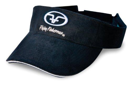 Flying Fisherman Logo Visor (Black, One Size)