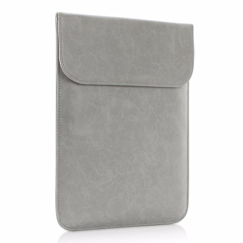 All-inside Gray Synthetic Leather Sleeve for Macbook Pro 15'' with/without Retina and New MacBook Pro 15'' with Touch Bar by All-inside