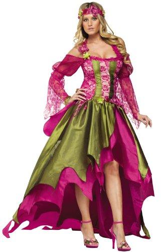 FunWorld Rennaisance Nymph, Pink/Green, Medium 8 -10 Costume
