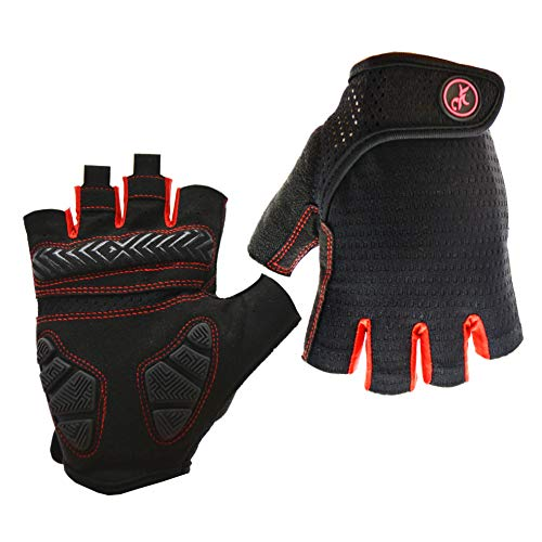 MOREOK Anti-Slip Shock-Absorbing Gel Pad Breathable Mountain Bike Gloves Road Racing Bicycle Cycling Gloves for Women and Man (Black