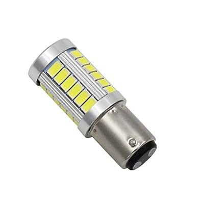 JKLcom 1157 White LED Light Bulbs 1157 BAY15D 5730 33SMD Super Bright 1157 7528 2057 2357NA Car LED Turn Tail Brake Stop Signal Light Bulb,4 Pack: Home Improvement