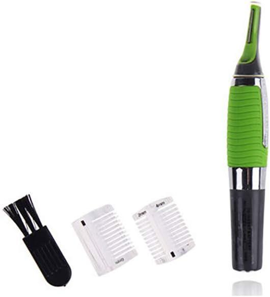 1 afeitadora de pelo de nariz para hombre, funciona con pilas, multifunción, para quitar el pelo, forma de cejas (verde): Amazon.es: Bebé