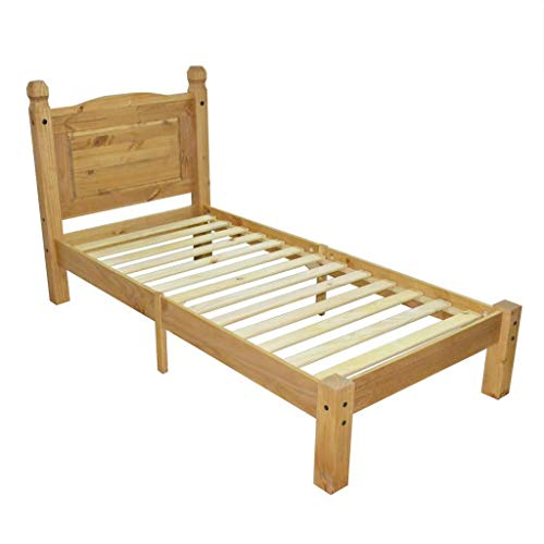 Mexican Bedroom Furniture (Mexican Pinewood Corona Range Single Bed Frame 35.4