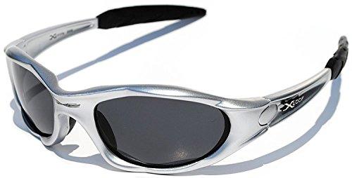 X-loop Polarized Sunglasses Silver Frame