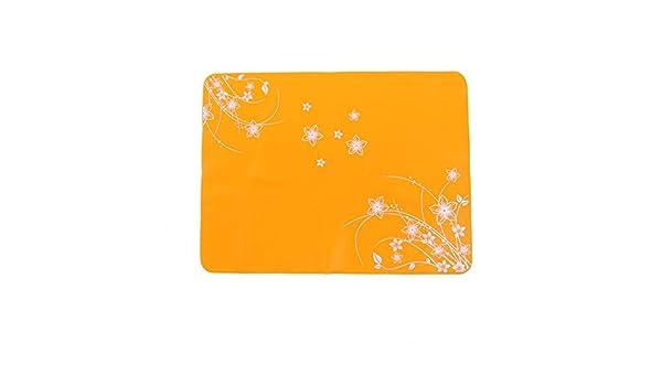 Amazon.com: Patrón de silicona eDealMax Inicio del rectángulo Flor Aislamiento térmico Vajilla Mantel Naranja: Kitchen & Dining