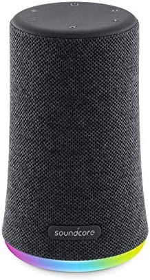 Mini speaker Bluetooth Soundcore Flare, speaker wireless portatile, impermeabilità IPX7 per feste all'aria aperta, spettacolo di luci LED, suono a 360° e tecnologia BassUp™