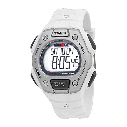 Ironman 30 Mid Lap Timex - Timex Mens TW5K88100 Ironman Classic Mid Size 30 Lap White Resin Strap Watch