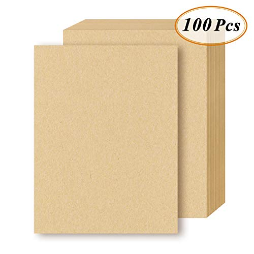 - Brown Kraft Letter Sized Stationery Paper, 120GSM Kraft Brown Paper Sheets for Arts, Crafts, and Office Use, 8.5 x 11 Inches